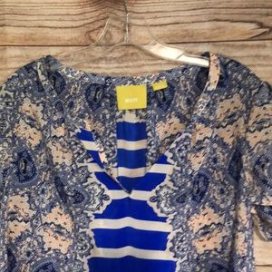 Anthropologie Tops - Anthropologie Maeve Silk Lace Print Blouse